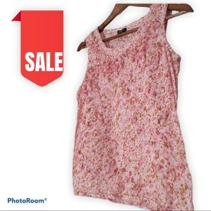 🍒2 for $20 Talbots floral womens top size 2p